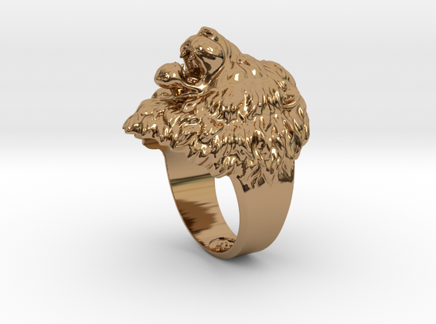 Aggressive Lion Ring