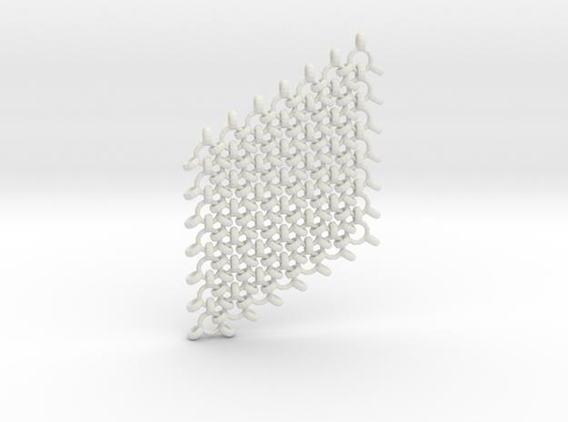 Flexible interlinked mail. in White Natural Versatile Plastic