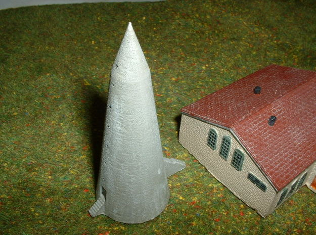 WINKELTURM, German air raid shelter 1/285 6mm in White Natural Versatile Plastic