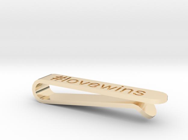 #lovewins Tie Clip in 14k Gold Plated Brass