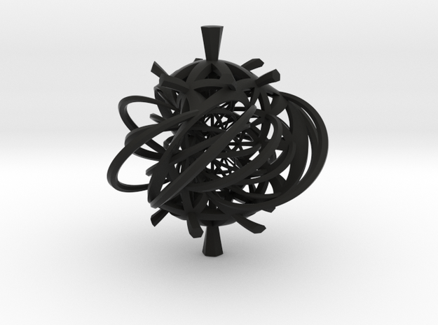 Seifert surface for (3,3) torus link with fibers 3d printed