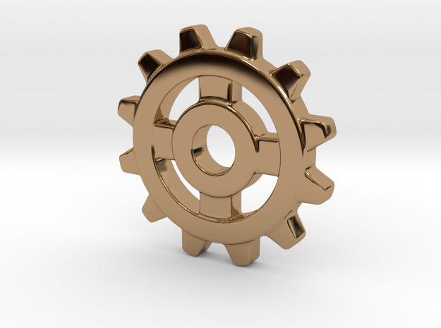 One Inch Eight Normal Spoke Gear in Polished Brass
