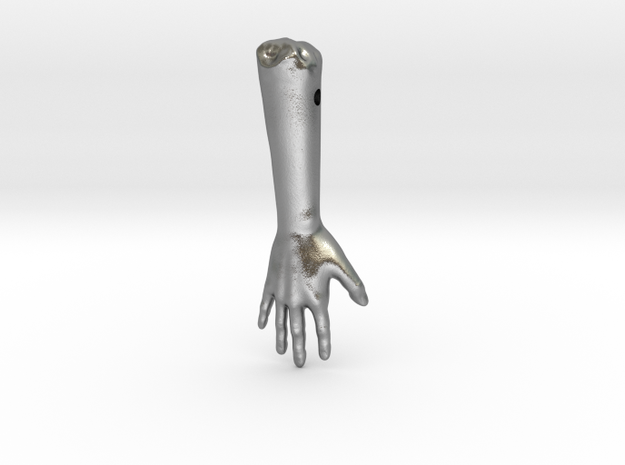severed Arm in Raw Silver