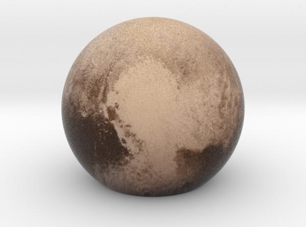 Pluto Sphere Medium in Full Color Sandstone