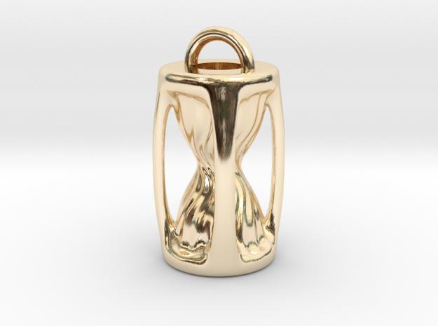 Sanduhr / Hourglass Pendant in 14K Gold
