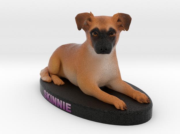 Custom Dog Figurine - Skinnie in Full Color Sandstone