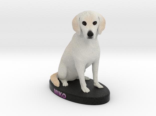 Custom Dog Figurine - Miko in Full Color Sandstone