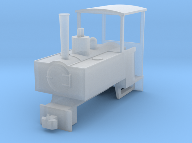 OO9 Decauville Plantation 0-4-0T for Tsuwaga Chass in Smooth Fine Detail Plastic