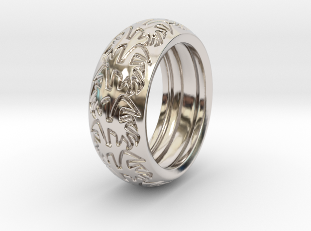 Ray B. - Ring - US 9 - 19 mm inside diameter 3d printed Polished Brass printed