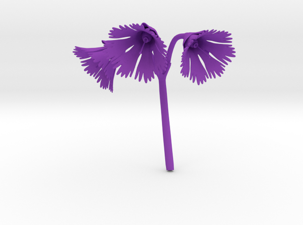 Snowbell (Soldanella) in Purple Strong & Flexible Polished