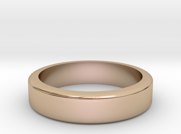 Knuckle Ring in 14k Rose Gold Plated Brass