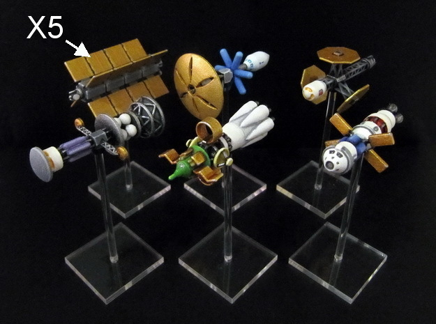 Spaceships (10 pcs) - High Frontier in White Processed Versatile Plastic
