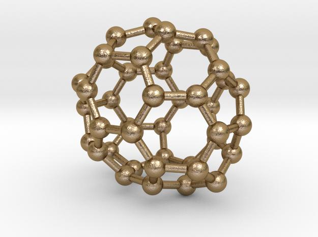 0259 Fullerene C42-38 c2 in Polished Gold Steel