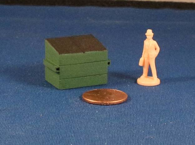 Dumpsters (x2) HO Scale in White Strong & Flexible