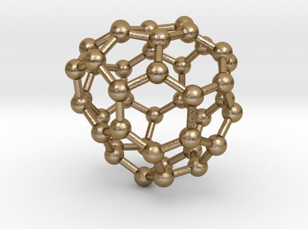 0264 Fullerene C42-43 c2 in Polished Gold Steel
