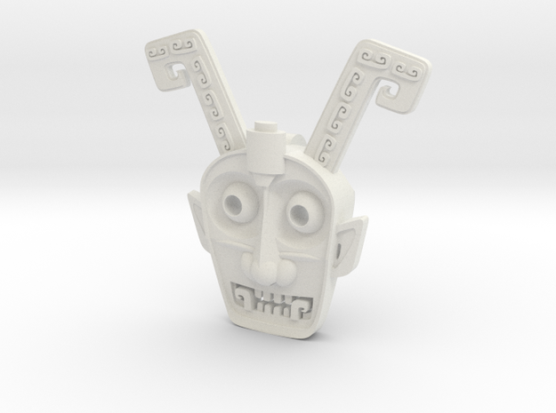 Head.stl in White Strong & Flexible