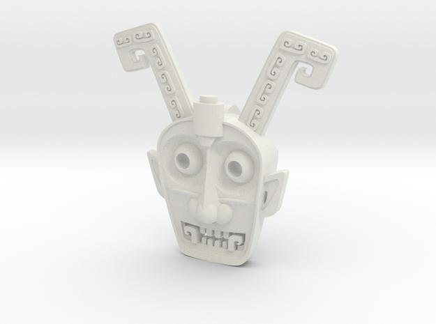 Head.stl in White Natural Versatile Plastic