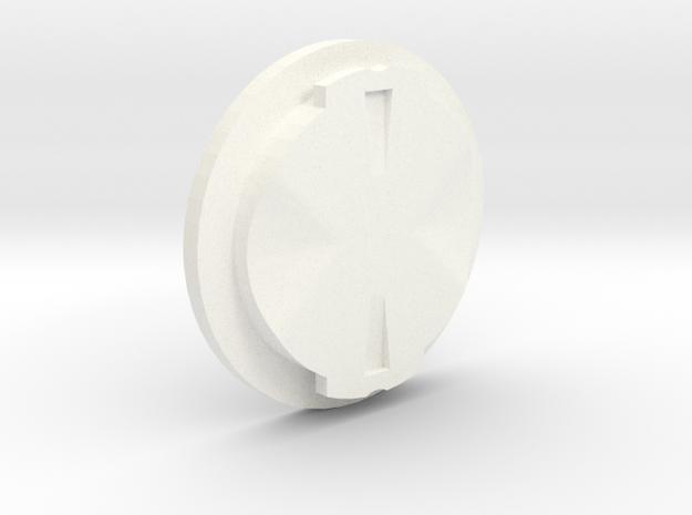 Garmin Male Mount in White Processed Versatile Plastic