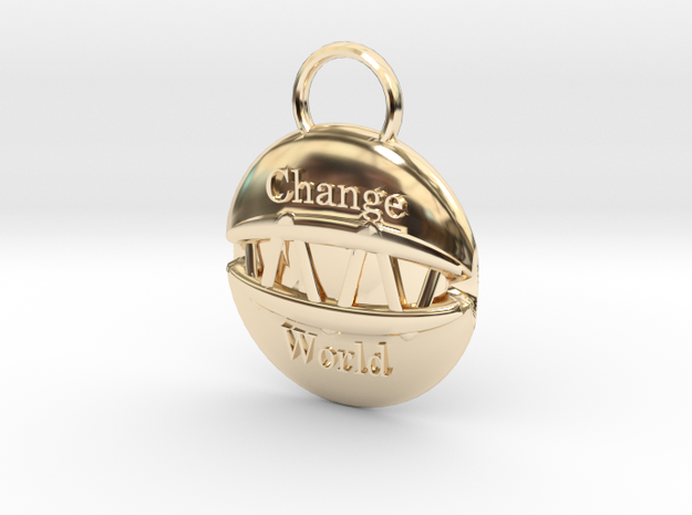 Change the world in 14K Yellow Gold