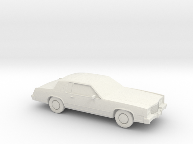1/87 1983 Cadillac Eldorado Convertable Top in White Natural Versatile Plastic