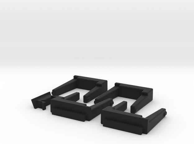 4 Module 1 Side in Black Strong & Flexible