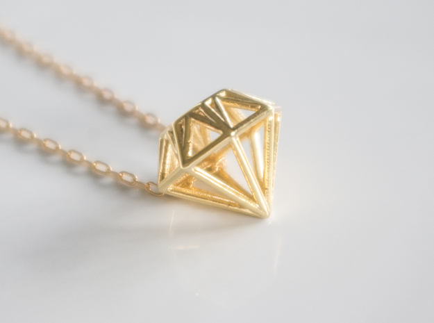 Diamond pendant | necklace | bracelet in 18k Gold Plated Brass