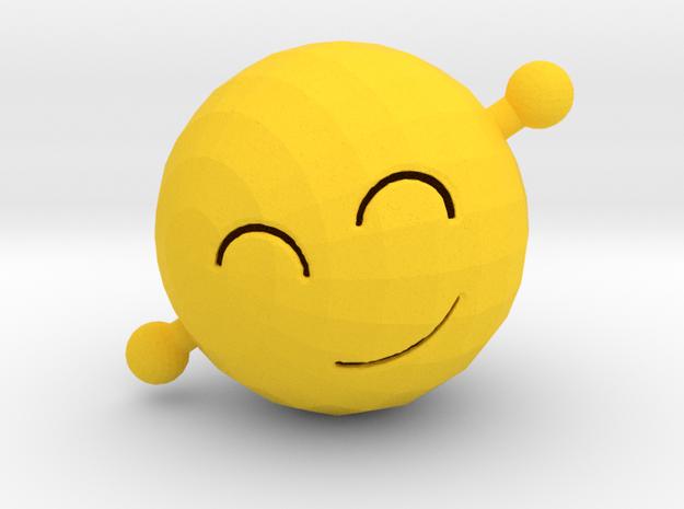 Wave Emoji in Yellow Processed Versatile Plastic