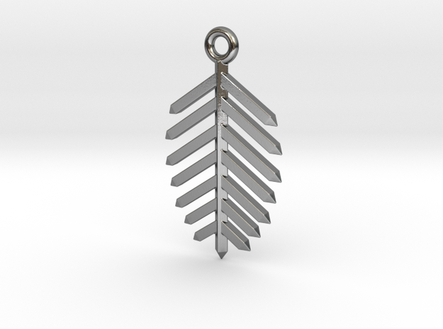Spruce Earring in Polished Silver