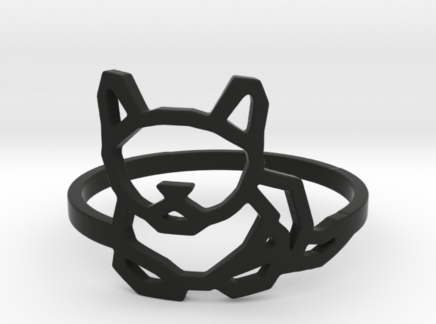 Petite Cat Ring in Black Strong & Flexible: 8 / 56.75