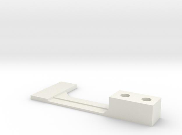 Flipper Switch Mod Bracket/Isolator (Left Side) in White Natural Versatile Plastic