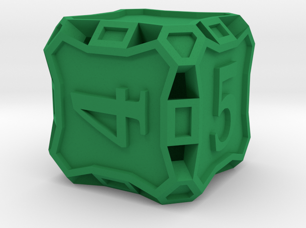 Die6 - Custom in Green Processed Versatile Plastic