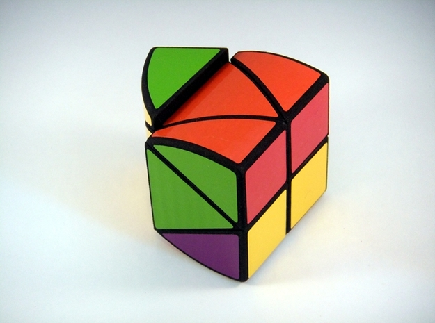 RotoPrism 2VB Puzzle 3d printed 90 Degree Turn
