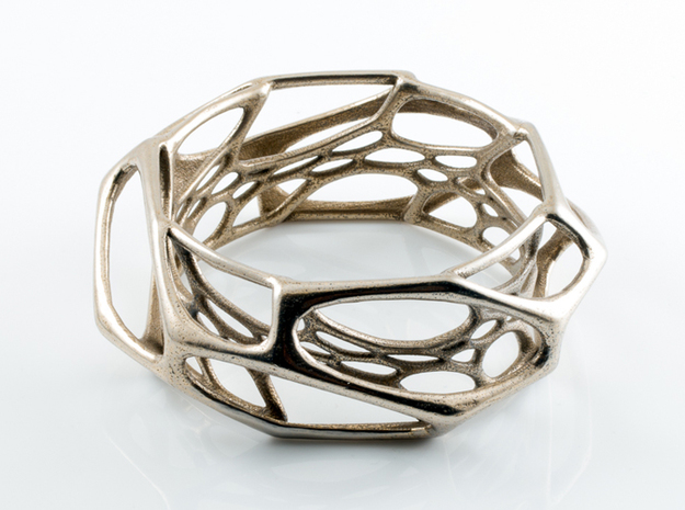 Exo Bangle sz M in Polished Bronzed Silver Steel