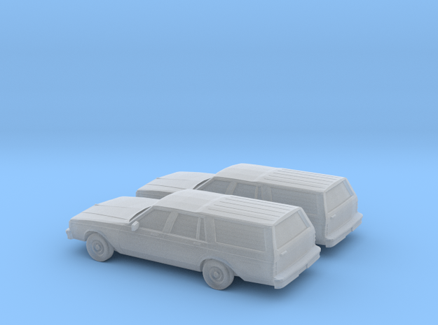 1/160 2X 1982-85 Chevrolet Caprice Classic Station in Smooth Fine Detail Plastic