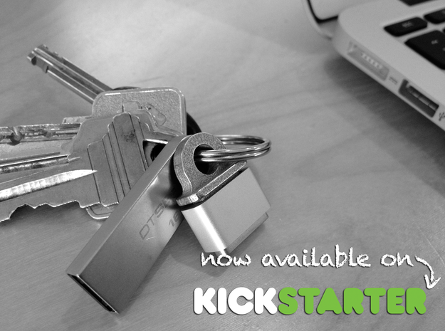 KeyBit - MagSafe Adapter Key Ring (beta) in Stainless Steel