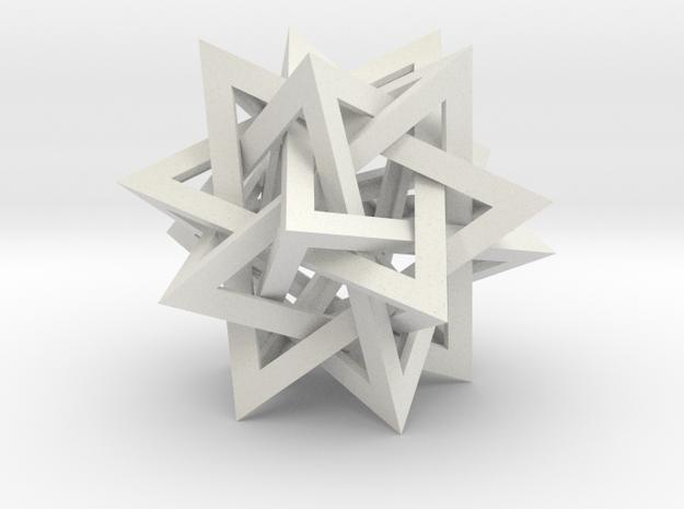 Tetrahedron 5 Compound in White Natural Versatile Plastic