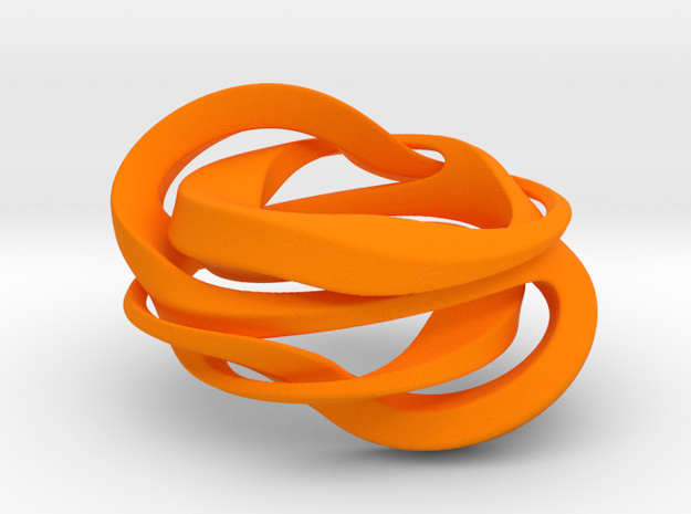 Quat Knot in Orange Processed Versatile Plastic