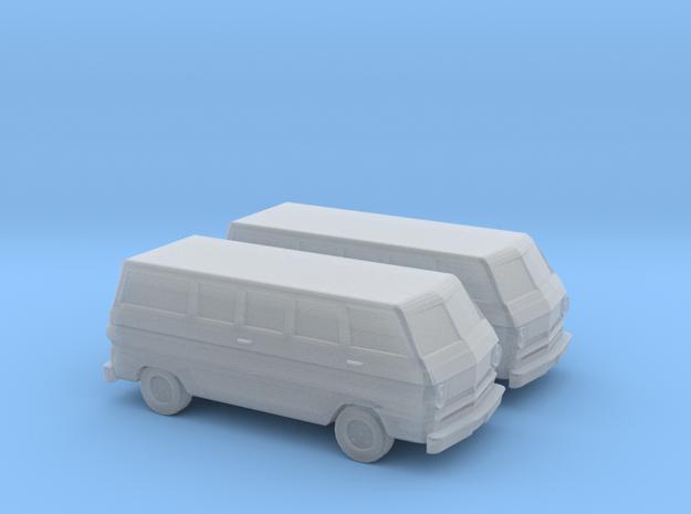 1/160 2X 1967 Dodge A100 Van in Smooth Fine Detail Plastic