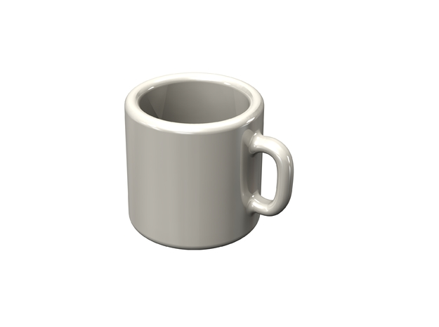 Dollhouse coffee mug in White Strong & Flexible