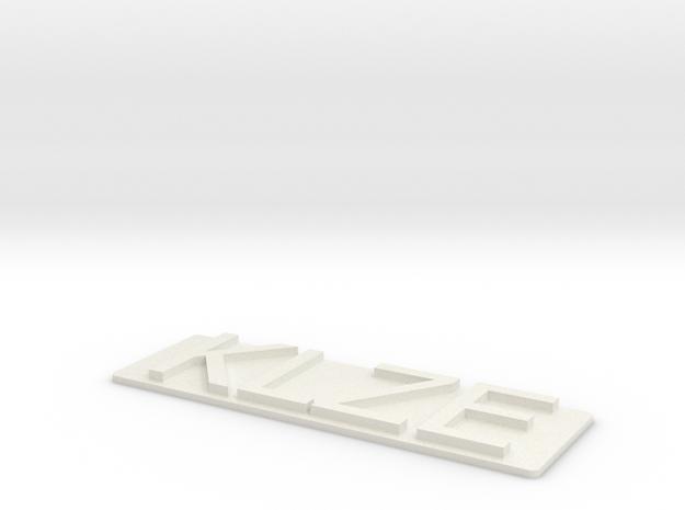 KLZE-Tach in White Strong & Flexible