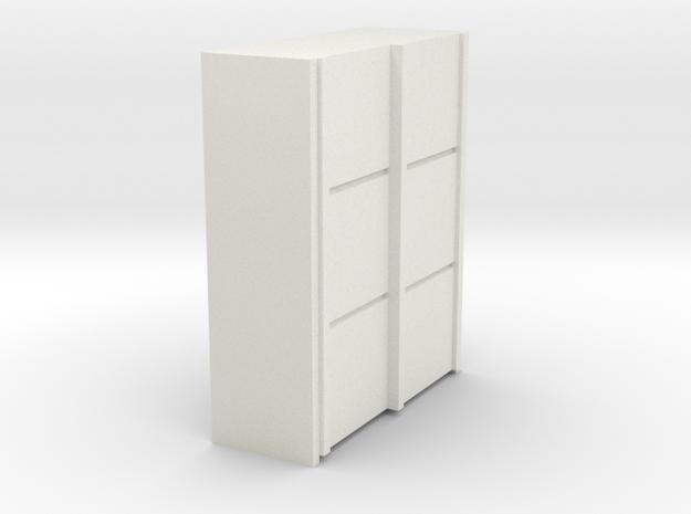 A 012 sliding closet Schiebeschrank 1:87 in White Natural Versatile Plastic