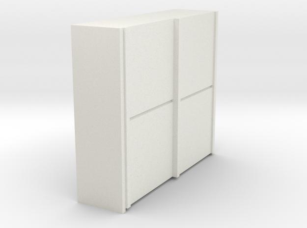 A 017 sliding closet Schiebeschrank 1:87 in White Natural Versatile Plastic