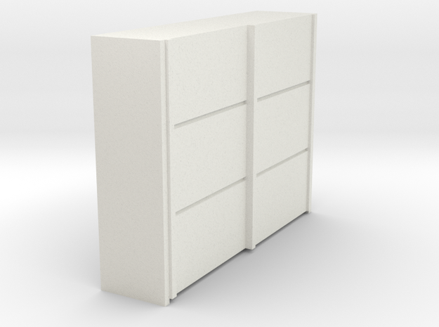 A 019 sliding closet Schiebeschrank 1:87 in White Strong & Flexible