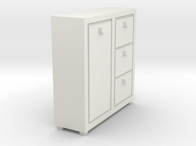 A 021 cabinet Schrank 1:87 in White Natural Versatile Plastic