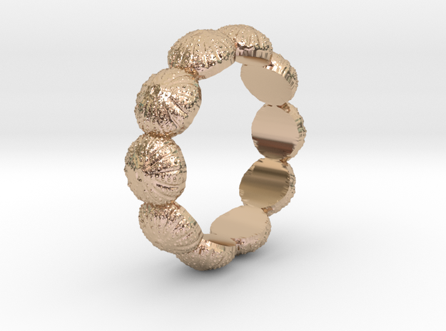 Urchin Ring 1 - US-Size 7 1/2 (17.35 mm) in 14k Rose Gold Plated Brass
