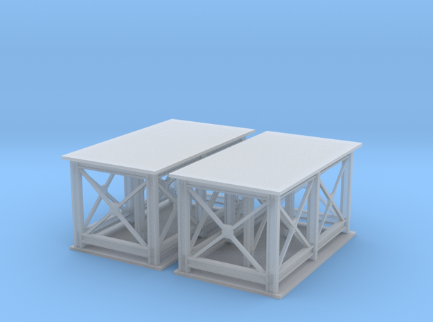2 Support Structure Z Scale in Smooth Fine Detail Plastic