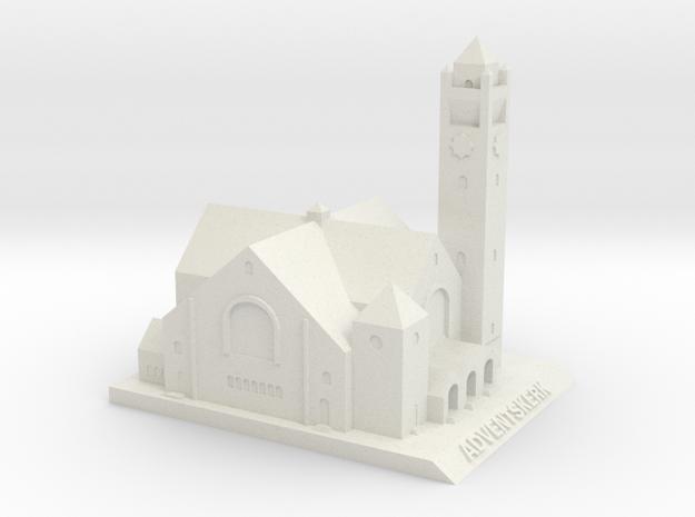 Adventskerk Model (10 cm) in White Strong & Flexible