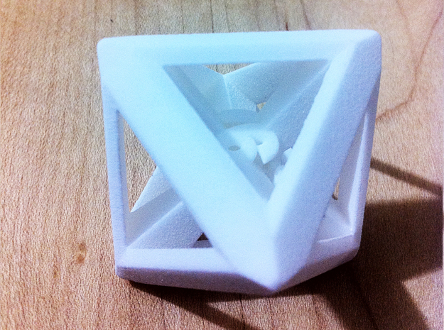 D8 dice with triangle faces 3d printed