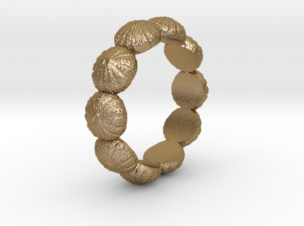 Urchin Ring 1 - US-Size 8 1/2 (18.53 mm) in Polished Gold Steel