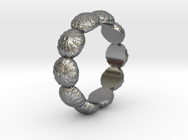 Urchin Ring 1 - US-Size 10 (19.84 mm) in Polished Silver